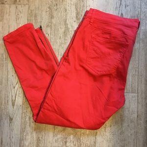 Bright Red Gap Skinnies